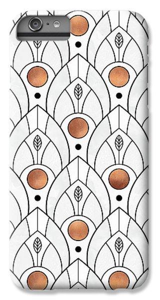 Art Deco Leaves 1 IPhone 6 Plus Case by Elisabeth Fredriksson