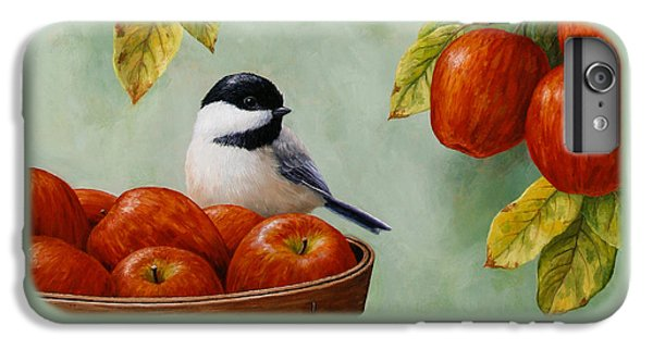 Apple Chickadee Greeting Card 1 IPhone 6 Plus Case by Crista Forest