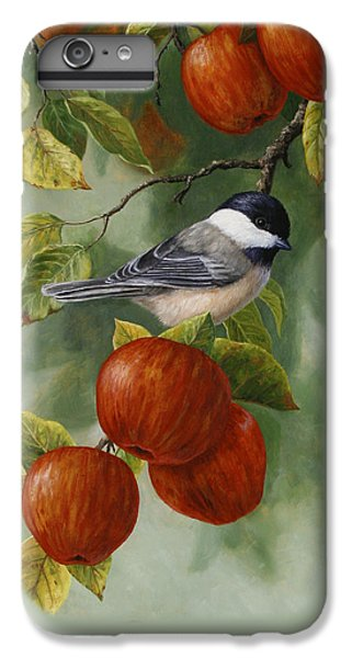 Apple Chickadee Greeting Card 2 IPhone 6 Plus Case by Crista Forest