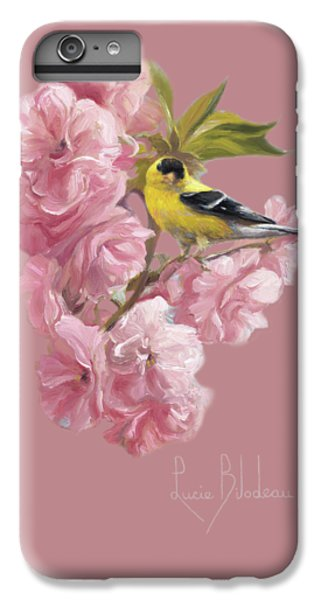 Finch iPhone 6 Plus Case - Spring Blossoms by Lucie Bilodeau