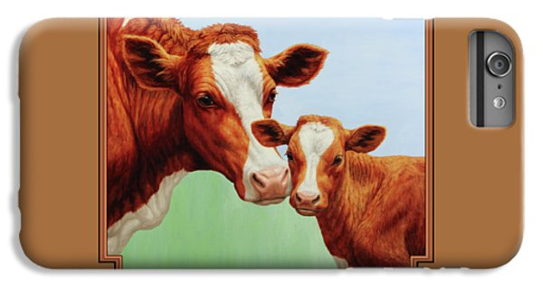 Cow iPhone 6 Plus Case - Cream And Sugar by Crista Forest