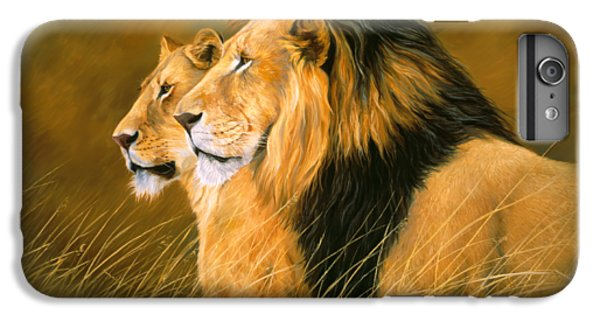 Lion iPhone 6 Plus Case - Side By Side by Lucie Bilodeau
