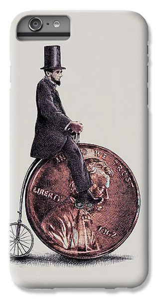 Bicycle iPhone 6 Plus Case - Penny Farthing by Eric Fan