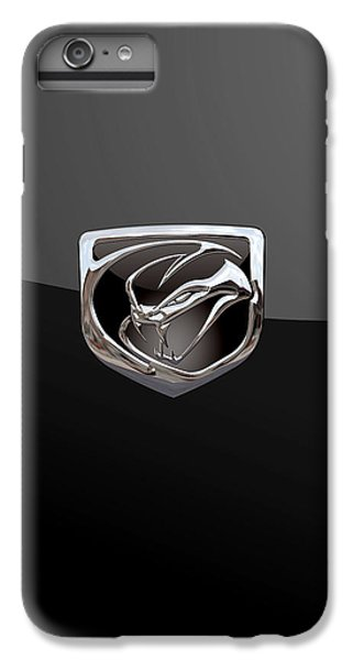 Dodge Viper - 3d Badge On Black IPhone 6 Plus Case