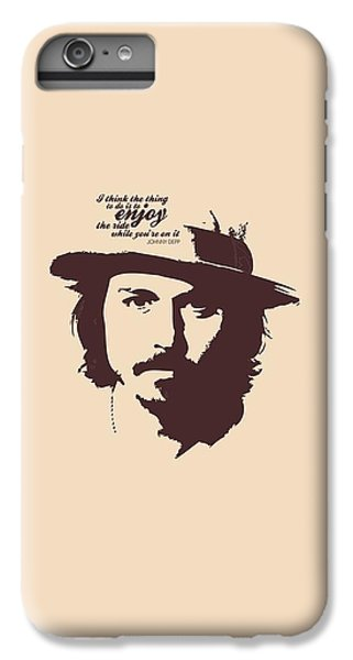 Johnny Depp Minimalist Poster IPhone 6 Plus Case by Lab No 4 - The Quotography Department