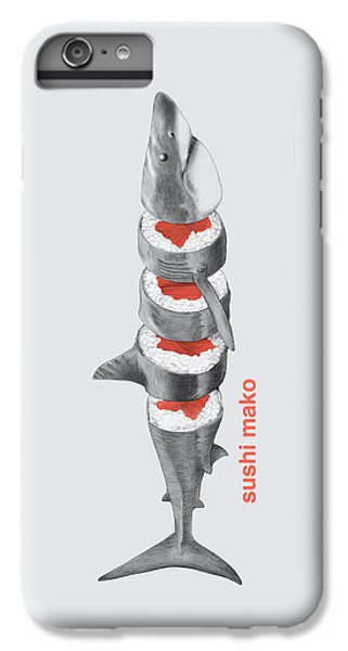 Sharks iPhone 6 Plus Case - Sushi Mako by Eric Fan