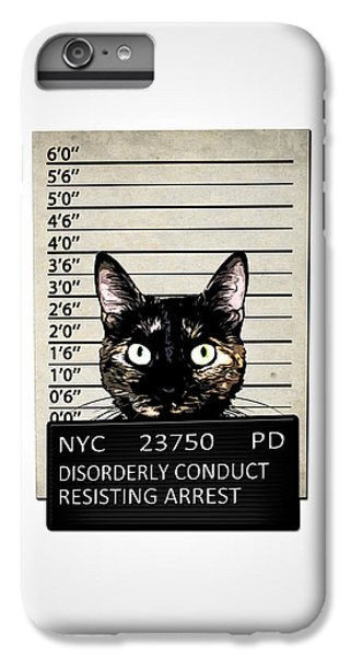 Kitty Mugshot IPhone 6 Plus Case by Nicklas Gustafsson