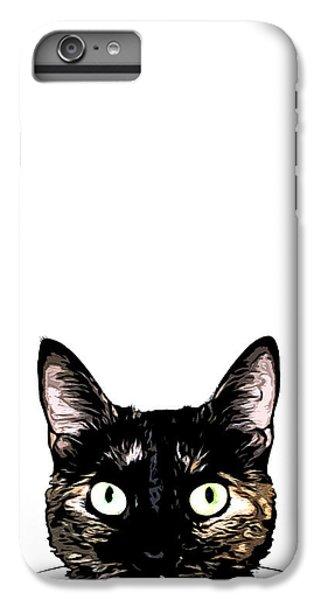 Cats iPhone 6 Plus Case - Peeking Cat by Nicklas Gustafsson