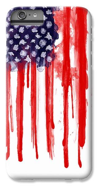 Landmarks iPhone 6 Plus Case - American Spatter Flag by Nicklas Gustafsson