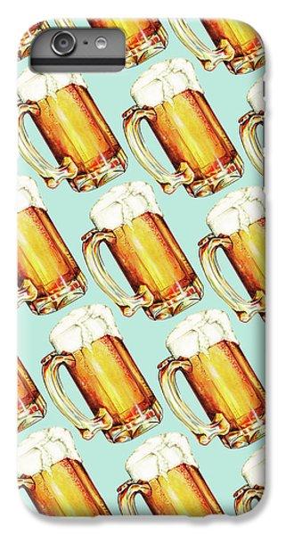 Beer Pattern IPhone 6 Plus Case by Kelly Gilleran