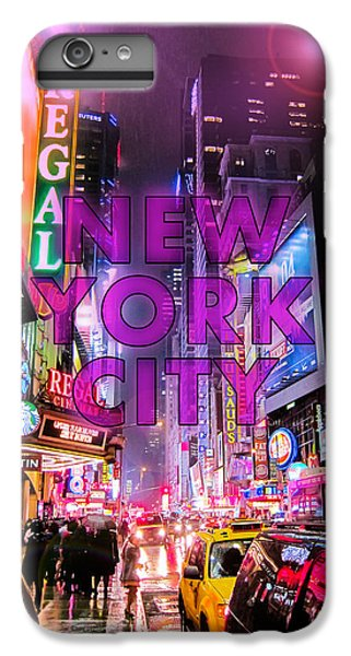 Times Square iPhone 6 Plus Case - New York City - Color by Nicklas Gustafsson
