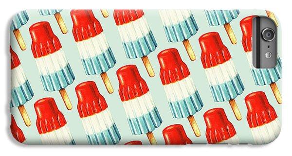 Blue iPhone 6 Plus Case - Bomb Pop Pattern by Kelly Gilleran