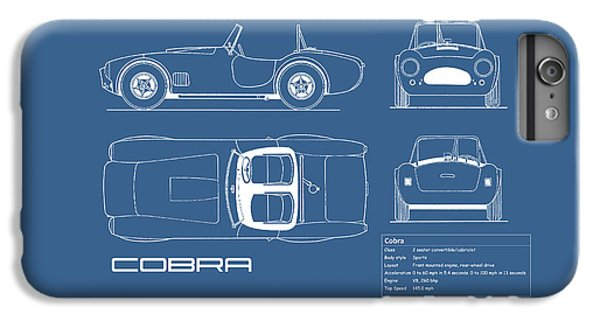 Ac Cobra Blueprint IPhone 6 Plus Case by Mark Rogan