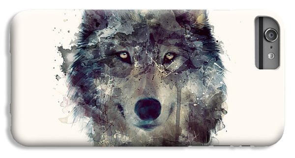 Wildlife iPhone 6 Plus Case - Wolf // Persevere by Amy Hamilton