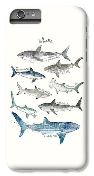 Sharks iPhone 6 Plus Case - Sharks by Amy Hamilton