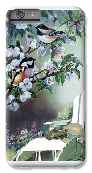 Chickadee iPhone 6 Plus Case -  Chickadees In Blossom Tree by Regina Femrite