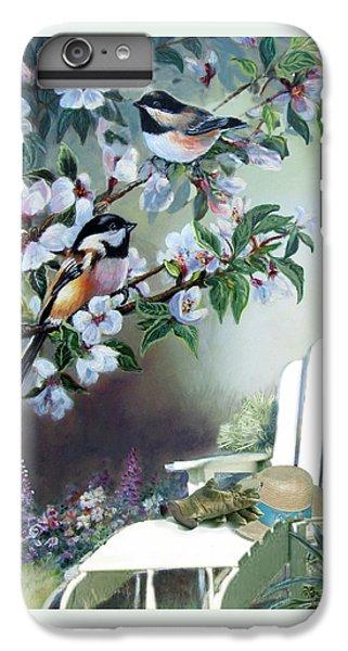 Chickadees In Blossom Tree IPhone 6 Plus Case by Regina Femrite