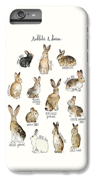 Rabbits And Hares IPhone 6 Plus Case by Amy Hamilton
