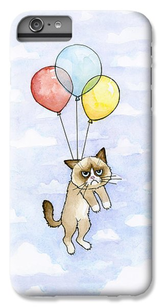Grumpy Cat And Balloons IPhone 6 Plus Case