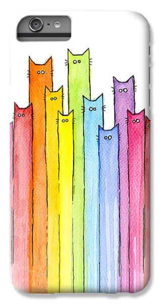 Cat Rainbow Pattern IPhone 6 Plus Case by Olga Shvartsur
