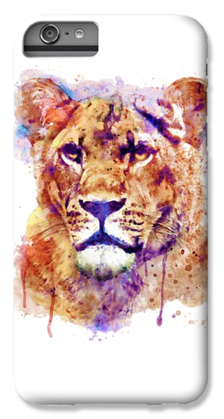 Lion Head iPhone 6 Plus Case - Lioness Head by Marian Voicu