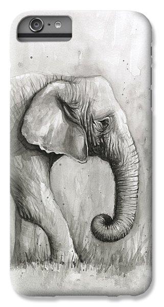 Elephant iPhone 6 Plus Case - Elephant Watercolor by Olga Shvartsur