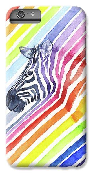 Rainbow Zebra Pattern IPhone 6 Plus Case by Olga Shvartsur