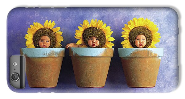 Sunflower iPhone 6 Plus Case - Sunflower Pots by Anne Geddes