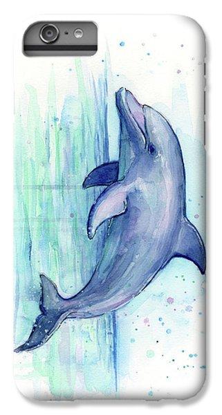 Dolphin Watercolor IPhone 6 Plus Case by Olga Shvartsur