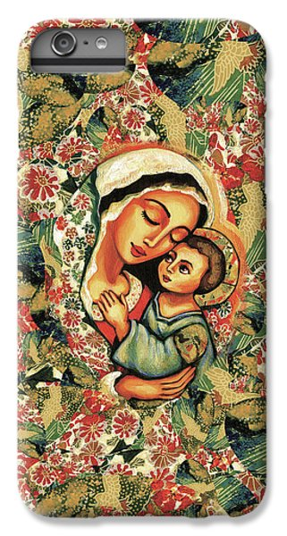 IPhone 6 Plus Case featuring the painting The Blessed Mother by Eva Campbell