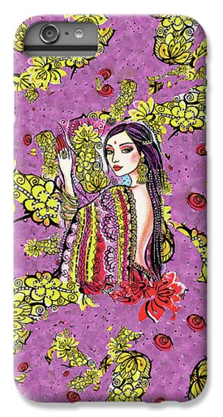 IPhone 6 Plus Case featuring the painting Soul Of India by Eva Campbell