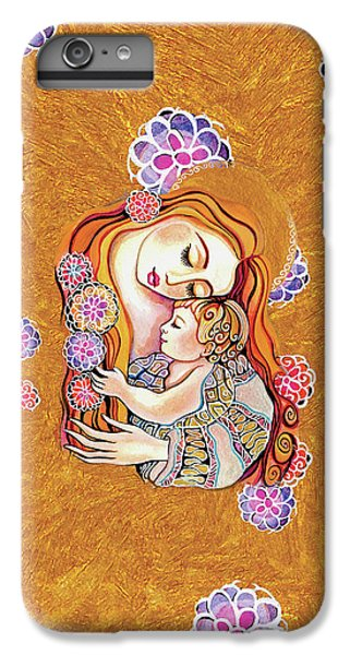 IPhone 6 Plus Case featuring the painting Little Angel Sleeping by Eva Campbell
