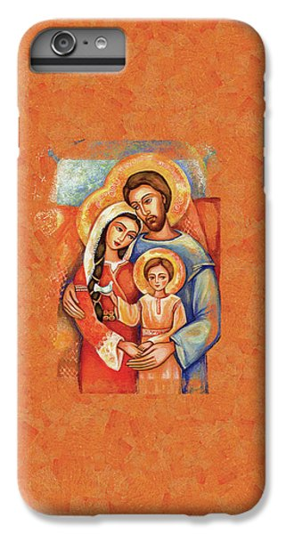IPhone 6 Plus Case featuring the painting The Holy Family by Eva Campbell