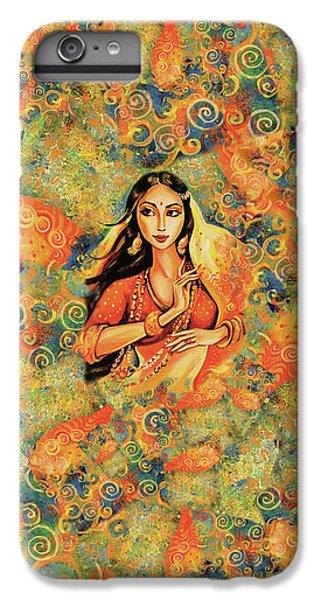 IPhone 6 Plus Case featuring the painting Flame by Eva Campbell