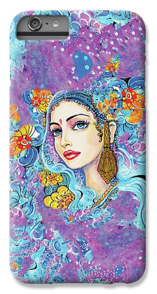 IPhone 6 Plus Case featuring the painting The Veil Of Aish by Eva Campbell