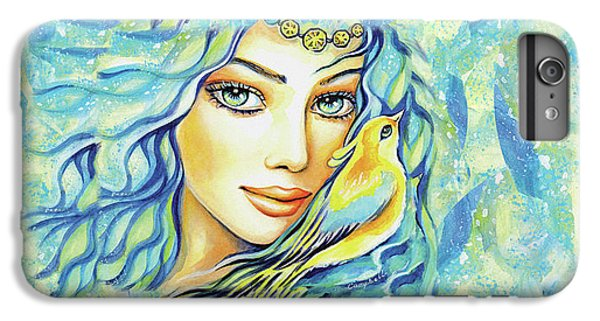 IPhone 6 Plus Case featuring the painting Bird Of Secrets by Eva Campbell