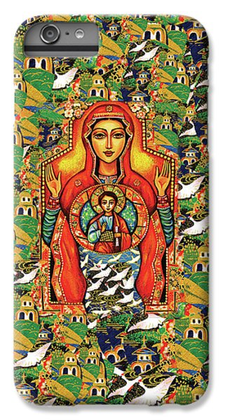 IPhone 6 Plus Case featuring the painting Our Lady Of The Sign by Eva Campbell