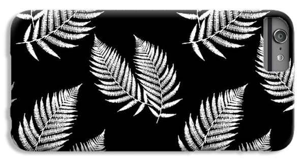 IPhone 6 Plus Case featuring the mixed media Fern Pattern Black And White by Christina Rollo
