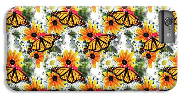 IPhone 6 Plus Case featuring the mixed media Butterfly Pattern by Christina Rollo