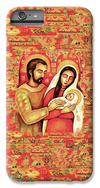 IPhone 6 Plus Case featuring the painting Holy Family by Eva Campbell