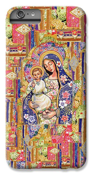 IPhone 6 Plus Case featuring the painting Panagia Eleousa by Eva Campbell