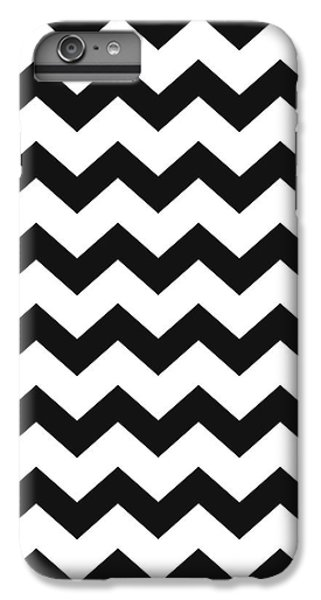 IPhone 6 Plus Case featuring the mixed media Black White Geometric Pattern by Christina Rollo