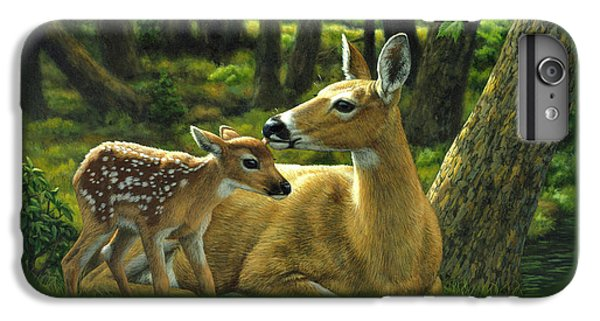 Whitetail Deer - First Spring IPhone 6 Plus Case by Crista Forest