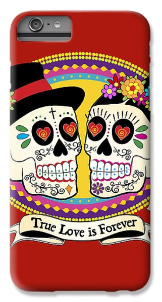 Folk Art iPhone 6 Plus Case - Los Novios Sugar Skulls by Tammy Wetzel