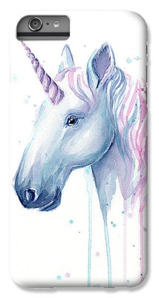 Magician iPhone 6 Plus Case - Cotton Candy Unicorn by Olga Shvartsur