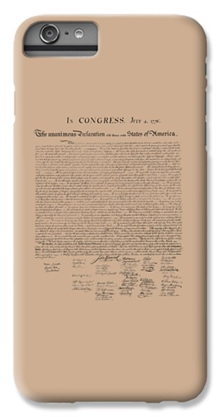 The Declaration Of Independence IPhone 6 Plus Case