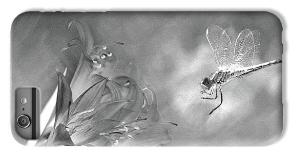 The Dragonfly And The Flower IPhone 6 Plus Case by Linda Lees