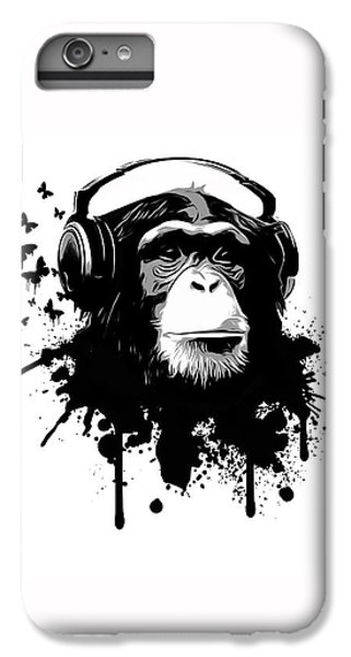 White iPhone 6 Plus Case - Monkey Business by Nicklas Gustafsson
