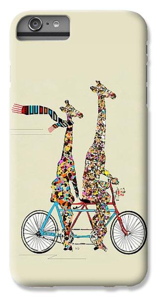Animals iPhone 6 Plus Case - Giraffe Days Lets Tandem by Bri Buckley