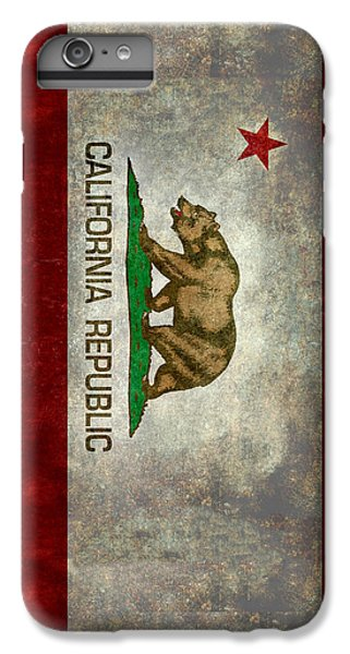California Republic State Flag Retro Style IPhone 6 Plus Case by Bruce Stanfield